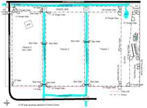 Pasture fence plan