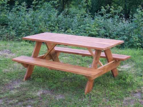 cross legged picnic table is great for comfort, our picnic table ...