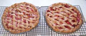 Strawberry Rhubarb Pies