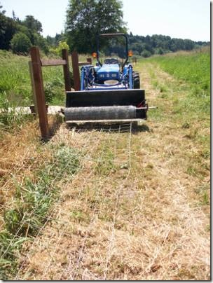 Field Fence Stretching | The Collie Farm Blog