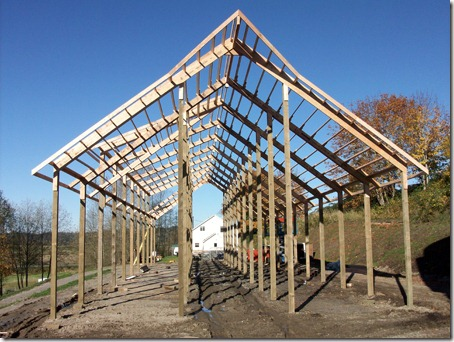 Pole Barn Sheeting The Collie Farm Blog